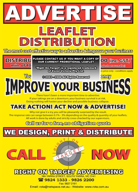 promotional leaflet 2004